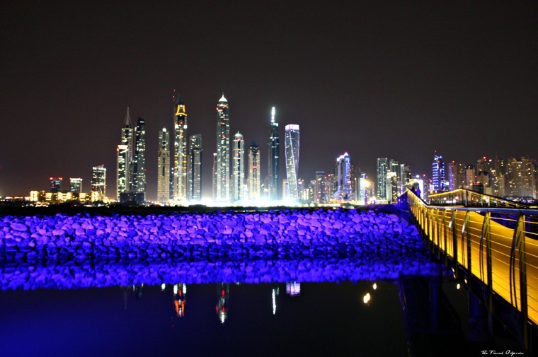 Dubai by night - The French Odyssée